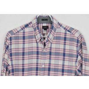 J CREW Medium Slim Plaid Long Sleeve Shirt
